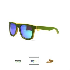 New keepwood green mirror sunglasses.